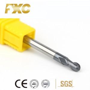 HRC45 2 Flute Solid Carbide Ball Nose End Mills Cheap CNC Cutter