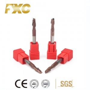 carbide end mill HRC55 2flutes